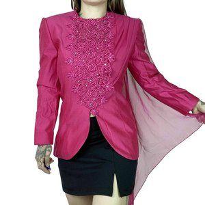 Vintage Hot Pink Blouse= 6